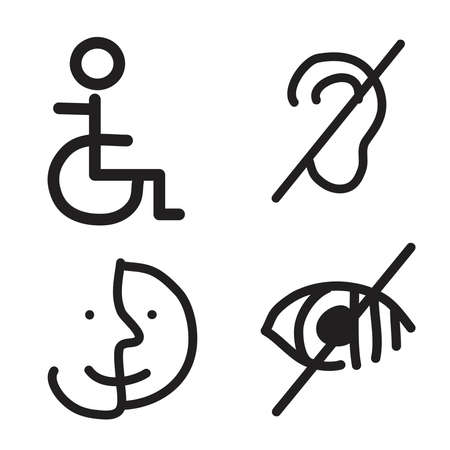 Doodle hand drawn of disability symbol or sign 向量圖像
