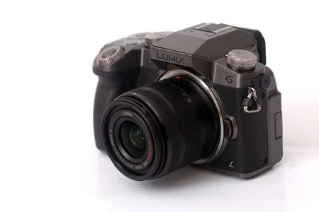 Yogyakarta, Indonesia - Mar 10, 2021 : PANASONIC LUMIX G7 mirrorless camera Sajtókép