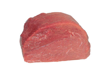 The whole piece of beef. Isolated on white Stock Photo