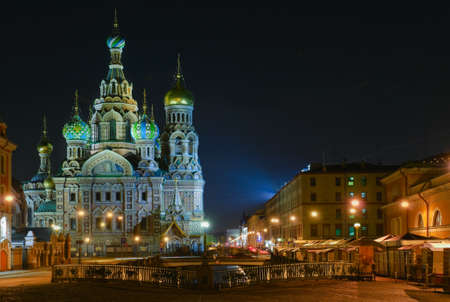 Saint Petersburg, Russia,  Orthodox Church Spas na Krovi Stock Photo