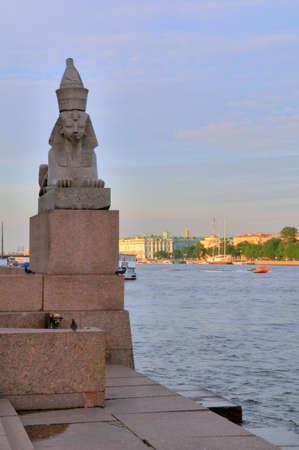 Russia, Saint-Petersburg, the famous granite sphinxes on Neva photo