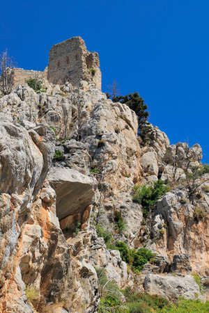 st hilarion: Monastery Saint Hilarion Castle on mountain in Cyprus.