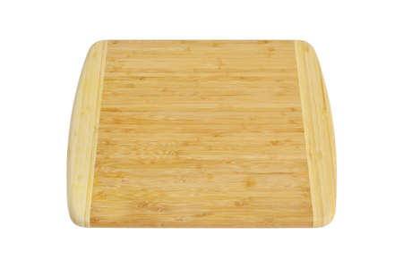 Wooden cutting board isolated on white  Stock Photo