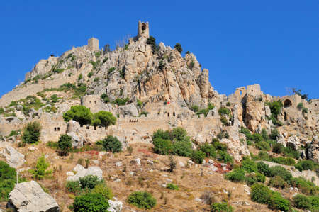 st hilarion: Monastery Saint Hilarion Castle on mountain in Cyprus