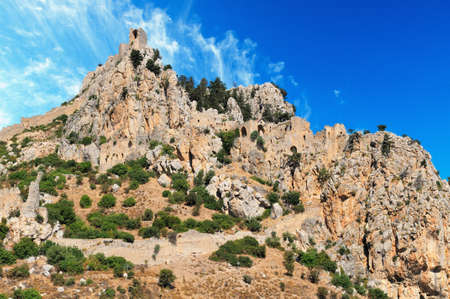 hilarion: Monastery Saint Hilarion Castle on mountain in Cyprus