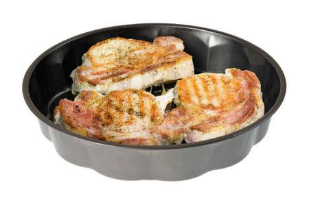 Fried pork medallion