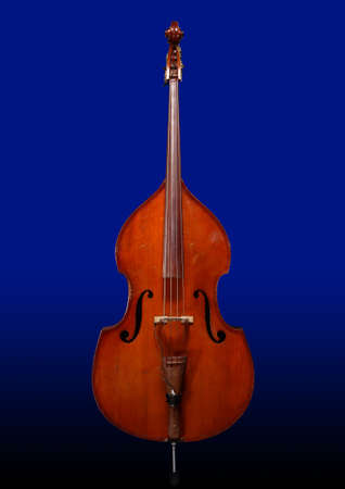 Contrabass on a dark blue background Stock Photo - 701742