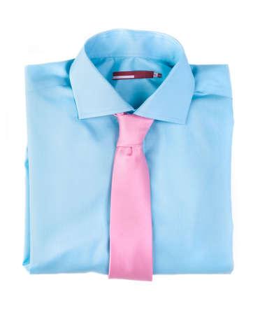 combined: La combinaci�n de camisa azul sobre fondo blanco