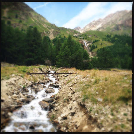 tyrol: A river and waterfall in south tyrol Stock Photo