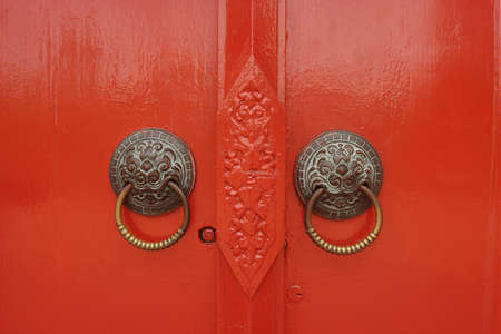 Red door in Chiangmai phototaken on 26-03-10.