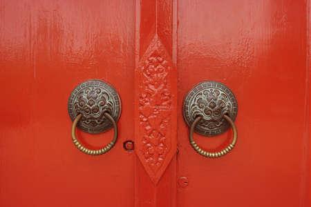 Red door in Chiangmai phototaken on 26-03-10.