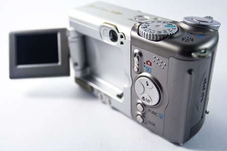 An old digital camera Stock Photo