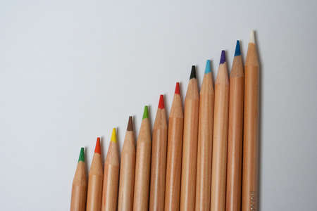 Colour pencil in many colours . photo