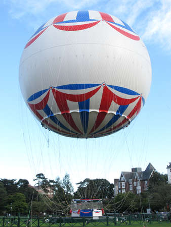 A balloon flying on the sky in Bournemouth. Editorial