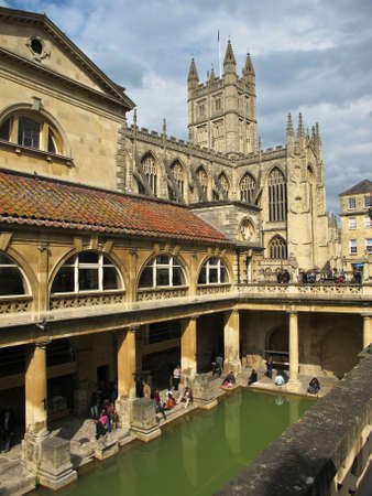 Roman Bath in Bath in UK