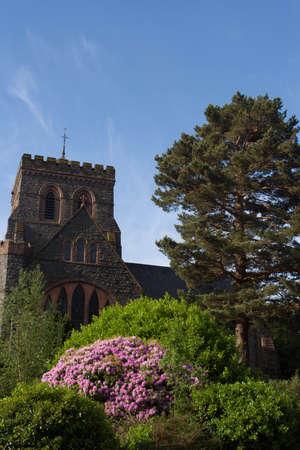 Church in Llanberis in spring  photo