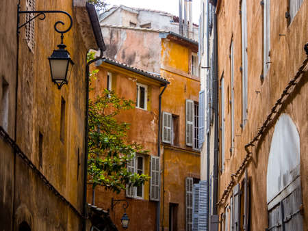 en: Building and windows in Aix en provence, France  Stock Photo