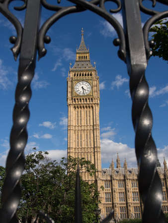 Bigben London with metal fance frame  photo