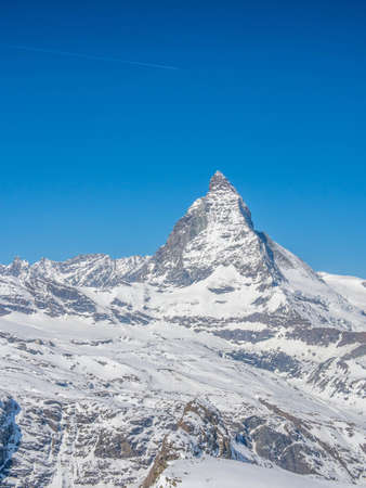 View of Matterhorn in a sunny day