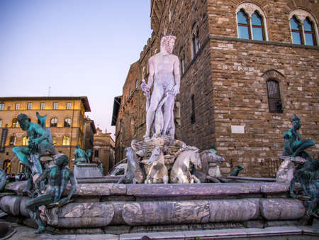Palazzo Vecchio in florence Italy in Summer.