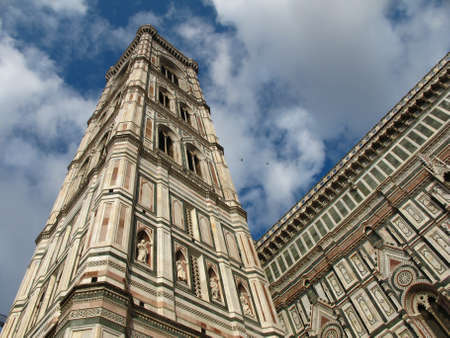 Tower of a famous Duomo in Florence.
