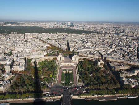 View of Paris from the Effle tower.