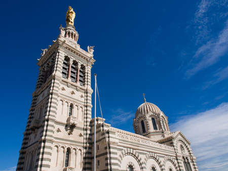 Notre-Dame de la Garde, a Catholic basilica in Marseille, landmark of the city.