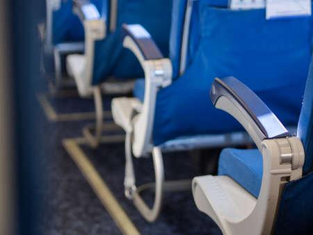 passenger seats inside an airplane.