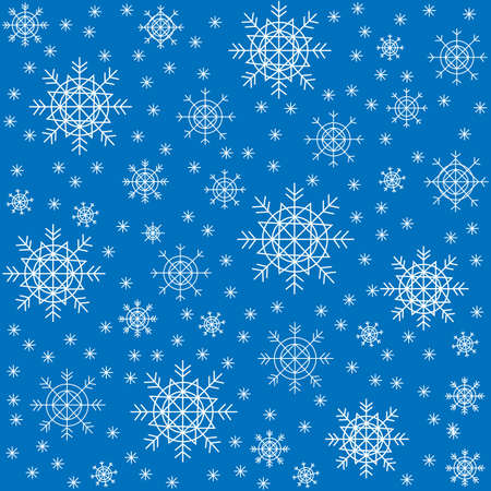 Seamless pattern. Beautiful winter snowflakes. Suitable as packaging for Christmas gifts. Creates a festive mood. Vector illustration.