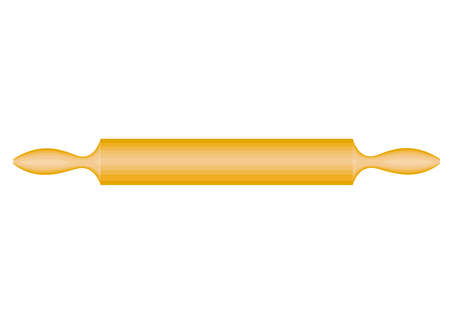 The subject of kitchen utensils. A rolling pin is needed in the kitchen in the kitchen to roll out the dough. Vector illustration.