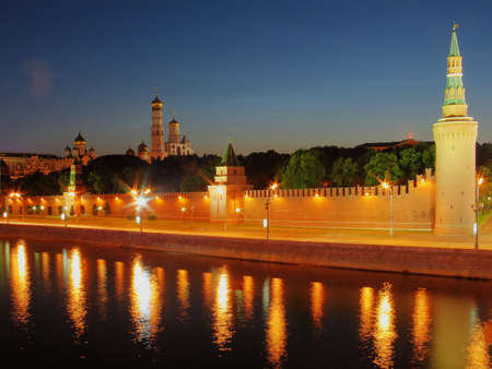 Night view of the walls of Moscow Kremlin. Russia. Stock Photo - 846886