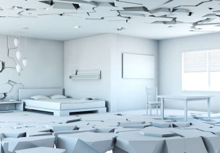 falling apart: Room that is falling apart, 3d