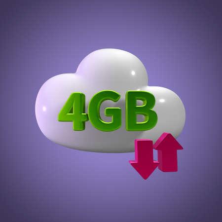 3d rendering cloud download upload 4 gb capacity