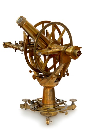 old measuring instrument of surveying and alignment photo