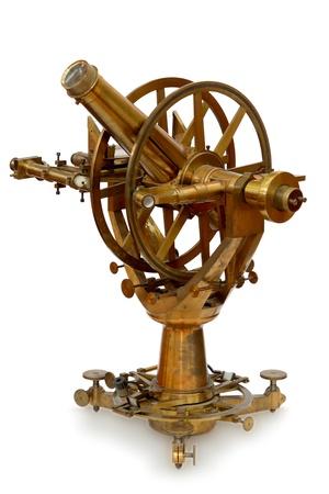 t�lescopes: vieux instrument de mesure de la topographie et l'alignement