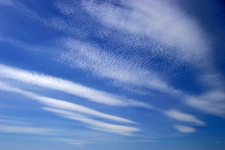 stratus: stratus and cirrus clouds on the blue sky background