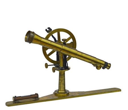 telescopic: old measuring instrument of surveying and alignment