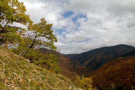 Autumn in the mountains of the North Caucasus