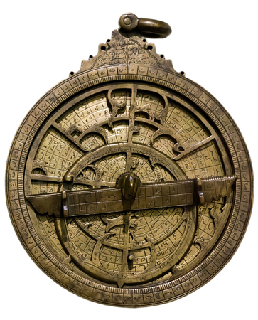 Astrolabe - ancient astronomical device for determining the coordinates and position of celestial objects