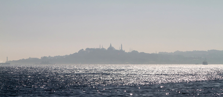 View of the famous peninsula of Istanbul and the bay