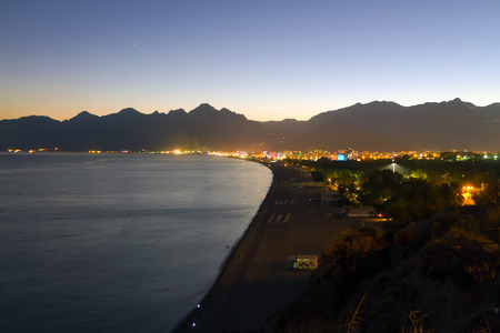 Evening Antalya coast