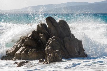 corse: Propriano Beach in Corse - France Stock Photo