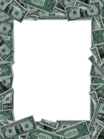 frame from one dollar banknotes Stock Photo - 4042445