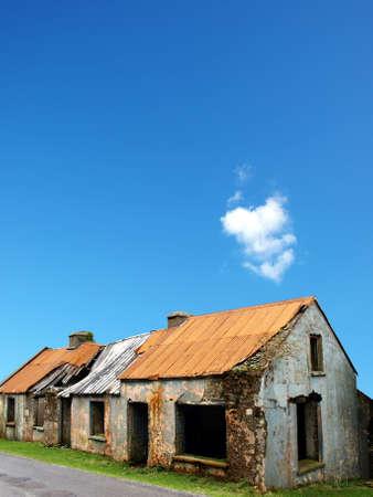 desolate: old ruined and desolate house