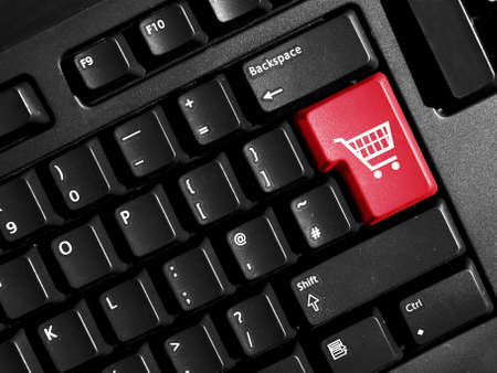 red button for internet shopping Stock Photo - 4127832