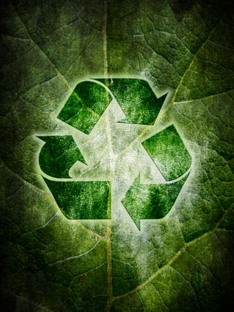 utilization: abstract background for conception of ecological recycling Stock Photo
