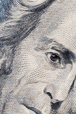 Close-up of Andrew Jackson's twenty dollars portrait Stock Photo - 6867880