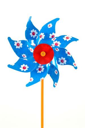 colorful children's pinwheel, isolated on white background Stock Photo - 6992238