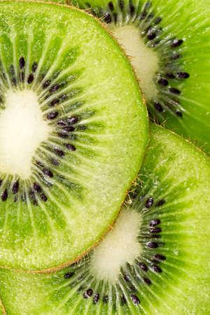 close up  slices of juicy kiwi fruit photo