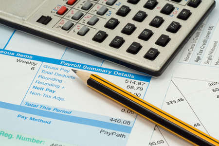 financial accounting concept. statement,calculations and expenses  Stock Photo - 7437786
